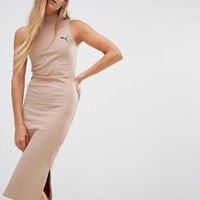 Puma | Puma Exclusive To ASOS Ribbed High Neck Dress In Camel at ASOS