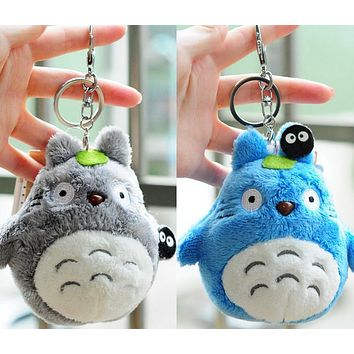 2Colors TOTORO Doll , NEW ON Super Kawaii 10CM My Neighbor Totoro Plush Stuffed Toy , Key chain Plush Toys