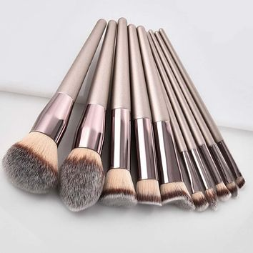 Luxury Champagne Loose Makeup Brushes