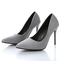 Pumps In spring and autumn, new nude color pointed women's shoes are sexy and high heels