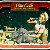 1940's Vintage Coca Cola Serving Trays Set of 2
