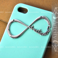 One Direction Iphone 4 Case, Iphone 4S case, Directioner Infinity Hard Case, Light Green iphone 4 case
