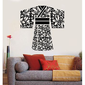 Vinyl Wall Decal Geisha Kimono Japan Asian Japanese Clothes Stickers Unique Gift (ig4519)