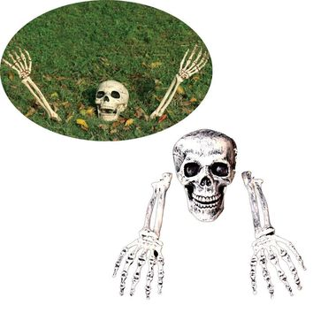Hot sale 3 Piece Halloween Horror Buried Alive Skeleton Skull Garden Yard Lawn Decoration Halloween Decorations