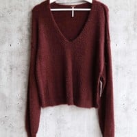 Free People - Princess V Neck Fuzzy Sweater