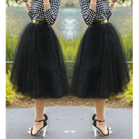 Endearing Solid Color Gauzy Fluffy Layered Skirt For Women