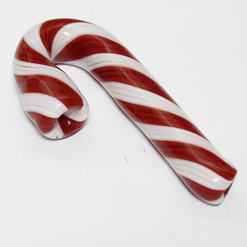 Glass Pipe - Christmas Candy Cane - Sherlock -Hedcraft Glassworks-