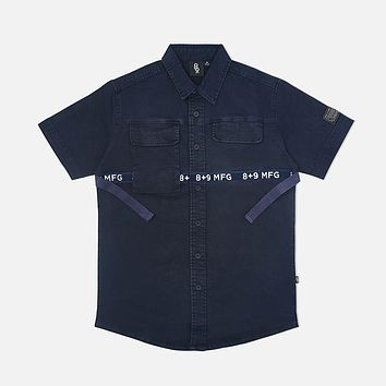 Strapped Up Vintage  Button Up Shirt Navy