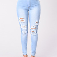 Drive To The Ocean Jeans - Light Blue