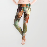 Autumn Leaves 2 Leggings by Fimbis