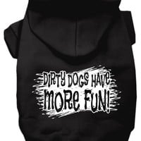 """""""Dirty Dogs"""" Dog Hoodie by Mirage Pet Products (Black)"""