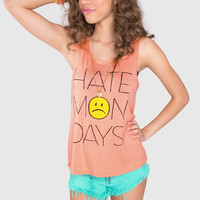 I Hate Mondays Top - Peach