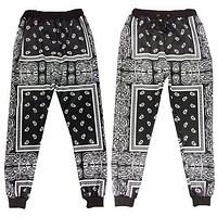 2017 Vintage Joggers Totem Harajuku Pants Men Trousers Cashew Shut 3d Women Joggers Stretch Hip Hop Pants Sweatpants