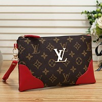 Louis Vuitton Women Leather Handbag Tote Clutch Bag