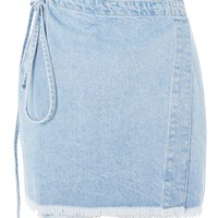MOTO Wrap Denim Skirt - Skirts - Clothing