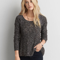 AEO Textured Jegging Sweater , Charcoal