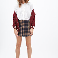 FOREVER 21 Classic Ruffled Top White