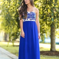 JUDITH MARCH:The Whole Truth Maxi Dress-Indigo