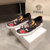 Versace Men's Leather Fashion Loafers Shoes