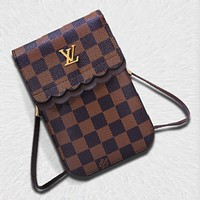 Samplefine2 Louis Vuitton New Joker Simple Fashion Vertical Women's Bag Shoulder Messenger Bag Mobile Phone Case 2#
