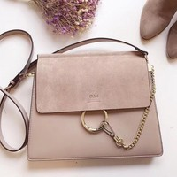 Chloe Hot Sale Fashionable Women Leather Shoulder Bag Crossbody Satchel Light Pink