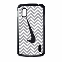 Nike Logo Chevron Graydc Nexus 4 Case