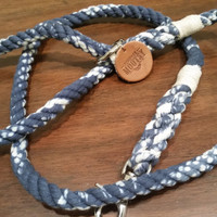 SAMPLE SALE Marble Blue Rope Dog Leash