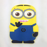 3D Cartoon Despicable Me Soft Silicone Skin tablet cover Case For Ipad 2 3 4 5 air ipad mini Cute Minions Fashion Back Shell Best Qulality