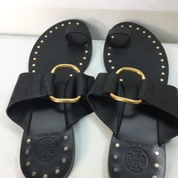 Used Tory Burch Women's Brannan Studded Leather Sandals