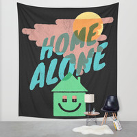 Home Alone Wall Tapestry by Nick Nelson