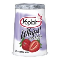 Yoplait Whips! Strawberry Mist Yogurt 4 oz