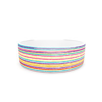 "Nika Martinez ""Summer Stripes"" Abstract Pet Bowl"