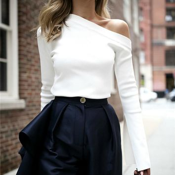Off The Shoulder Executive Blouse
