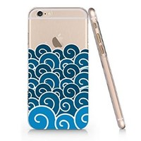 Ocean Waves Iphone 6 case, Iphone 6 Case Slim White Cover Skin (4.7'' Screen) (LA034)