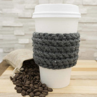 Iced Coffee Cozy - Mens Easter Basket - Adult Easter - Mens Gift - Easter Gift - Simple Gifts - Crochet Coffee Cozy - Coffee Sleeve