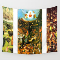 Last Judgement by Bosch c. 1482 Wall Tapestry by purelove
