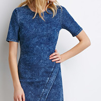 Faux Wrap Denim Dress