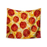 """Pepperoni Pizza Overload"" Pizza Love Wall Tapestry"