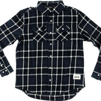 Grizzly North American Flannel Longsleeve Medium Black/Grey