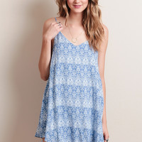 Iced Over Printed Dress