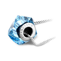 YAN & LEI Hot Sale SWAROVSKI Engraved Pendant Necklace with Sterling Silver Chain, Made with SWAROVSKI Crystal