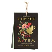 2016 Coffee & Tea Wall Calendar by RIFLE PAPER Co.   Made in USA