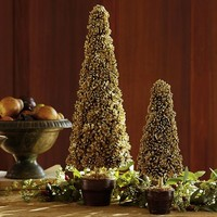 Gold Pinecone Topiary | Pottery Barn