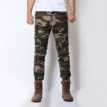 Men Tactical Camouflage Camo Pants Trousers