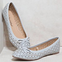 Twisted Cut Out Bow Flats