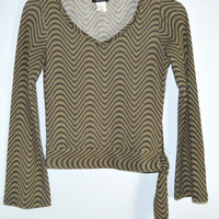 Gossip Knit Top Tie Side Small Made in USA