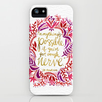 Anything's Possible – Gold & Red iPhone & iPod Case by Cat Coquillette