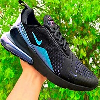 Nike Air Max 270 Flyknit Atmospheric  Fashion New Reflective Running Cushion Shoes Black
