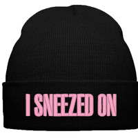BEYONCE I SNEEZED ON BEANIE WINTER HAT