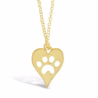 Dog Paw Necklace for Dog Lovers